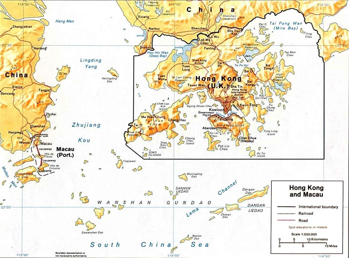 صورة لخريطة هونغ كونغ