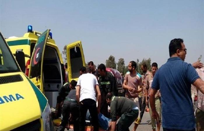 أخبار الحوادث : إصابة 11 راكبًا في حادثي تصادم ببنى سويف