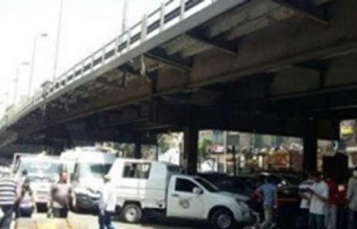 حوادث : انهيار أجزاء من كوبري محرم بك في الإسكندرية