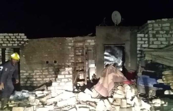 حوادث : انهيار عقار بقرية البرجاية في المنيا دون أضرار بشرية