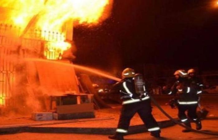 أخبار الحوادث : نشوب حريق داخل شونة خردة بالغربية