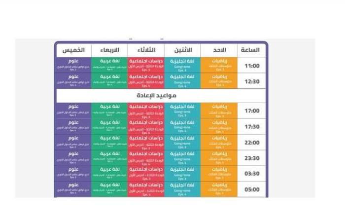 أخبار مصر : قناة مدرستنا التعليمية.. جدول دروس الصف الثانى الإعدادى حتى 31 أكتوبر