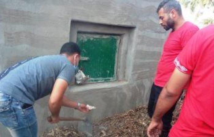 """مصر : """"طلاسم وأسحار للتفرقة بين الزوجين"""".. أعمال سفلية بمقابر بنى سويف..  صور"""